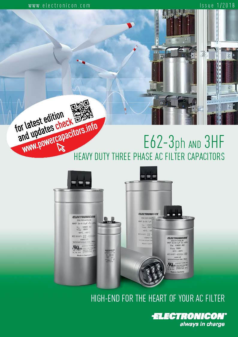 Electronicon - E62-3ph AND 3HF HEAVY DUTY THREE PHASE AC FILTER CAPACITORS