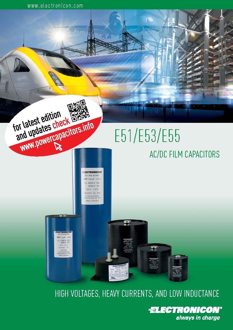 Electronicon  E51/E53/E55 AC/DC FILM CAPACITORS